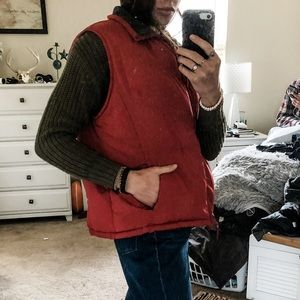 Burry Lane red puffer vest